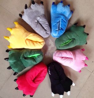 Men Women Animal Onesie Cartoon Cosplay Funny Slippers Paw Claw Shoes