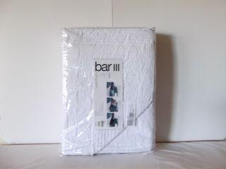 Bar III Bar 3 Solid Main Frame White Full Queen Quilt