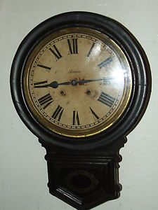 Antique 1882 Ansonia Victorian Regulator Wall Clock Ansonia Clock Co New York