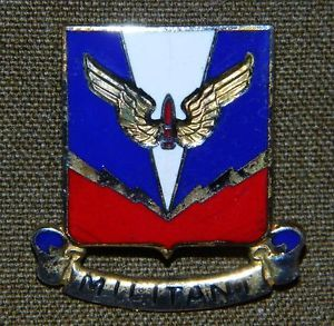 U s Army Air Defense Artillery School Distinctive Unit Insignia Crest Pin Back