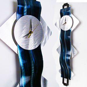 Abstract Metal Wall Art Clock