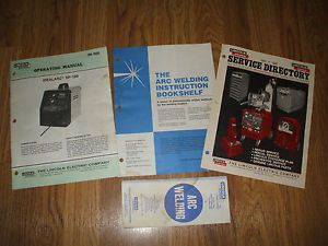Lincoln Welders Idealarc SP 100 Model Operating Parts Manual Im 366 3 More