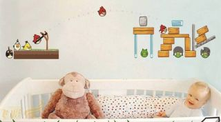 Angry Birds 200cm Removable Wall Sticker Nursery Baby Kids Room Decor Wallpaper