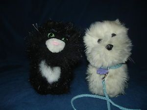 American Girl Dog Coconut with Leash Collar and Licorice The Cat Retired Plush