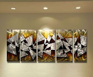 Abstract Metal Wall Art Sculpture Painting Modern Original Art Hawk $1 No Res