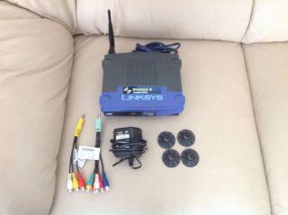 Linksys Wireless G Access Point 2 4 GHz Router WAP54G Wall Mount Cords Bundle