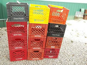 Vintage Dairy Milk Crate Plastic Storage Good for Storage $35 00 Each Crate