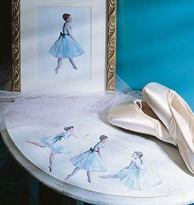 Ballerina Wallies Wallpaper Cutouts Ballet Blue Girls Room Wall Decor Crafts