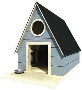 "36"" x 44"" Dog House Plans Gable Roof Pet Size Up to 100 lbs Med Dog 03"