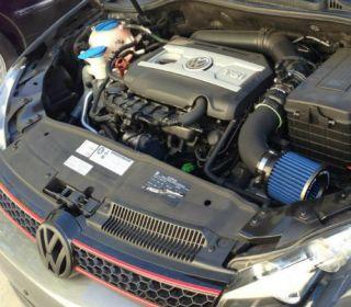 10 13 VW GTI MK6 Black Beat Motor Air Intake System with Air Pump