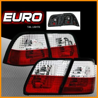 95 96 Nissan Maxima Crystal Red Clear Tail Lights 4pcs