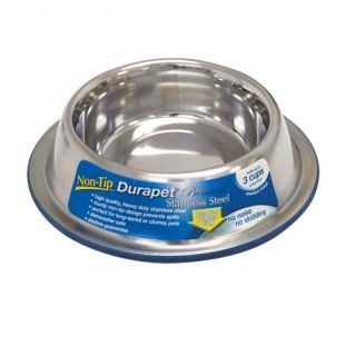 Ourpet Durapet No Skid No Tip Stainless Steel Food Water Dog Bowl Choose Size