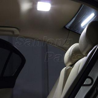 6 x 9SMD 5050 Ford White Light Panel BA9S T10 Festoon 9LED Dome Interior Lamp