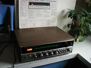 Vtg Sansui 350A Solid State Am FM Stereo Tuner Amplifier w T Antenna Cables