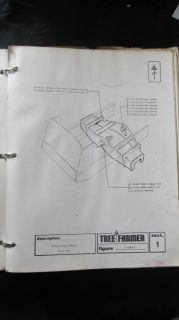 Original Tree Farmer C4D C5D Skidder Parts Manual Book Catalog