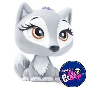 Littlest Pet Shop LPS Wolf Dog Toy Animal Figures Toy LPS 2255