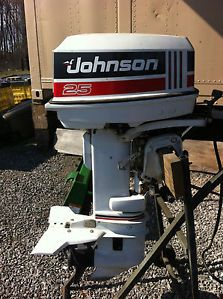 Johnson 25 HP Outboard Boat Motor Engine