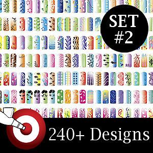Pro Airbrush Nail Art Paint Stencil Kit Design Set 2