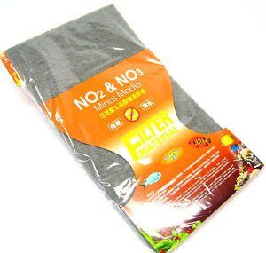 "Ista NO2 NO3 Media Filter Sponge 18x10"" Remove Nitrite Nitrate Aquarium Foam"