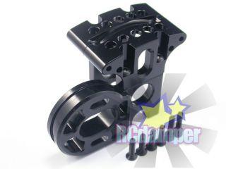 Aluminum Center Gear Box Motor Mount BK for Axial 1 10 Exo Terra Buggy Alloy
