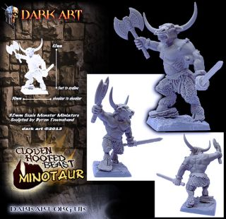 Cloven Hoofed Beasts Minotaur Cyclops Devil Dark Art Resin Kit