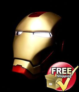 Iron Man Display Helmet Model Super Hero Avenger Animation Art Figure Kit Hobbie