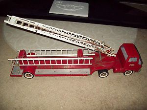 "1960s Tonka Toy Aerial Ladder Gas Turbine Fire Engine Truck 30"" Long N R"