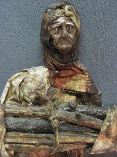 Vtg Jalisco Mexican Folk Art Paper Mache Sculpture Doll Mayo Statue Indian