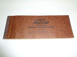 American Favorite Receipt Book Rent Antique Vtg 1920s 1930s Art Deco Paper