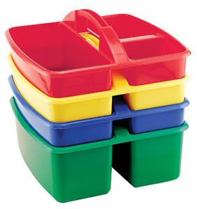 Small Art Caddy 4 Pack Plastic Storage Containers for Arts Crafts