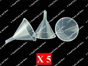 5 Plastic All Purpose Funnels for Sand Art Bottles