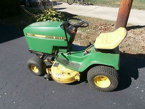 John Deere 160 Lawn Tractor Riding Mower for Parts Engine Strong Used