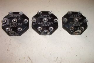 3 Arctic Cat Snowmobile Engine Heads ZRT 600