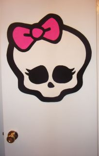 Handpainted Wallpaper Decal Decor Sticker Art Monster High Doll Logo Skull Mural