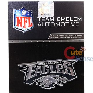 NFL Philadelphia Eagles Team Logo Auto Car Emblem Auto Accessories Chrome Finish