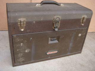 Vintage Metal Craftsman 7 Drawer Machinist Tool Box Chest Art Box Cabinet