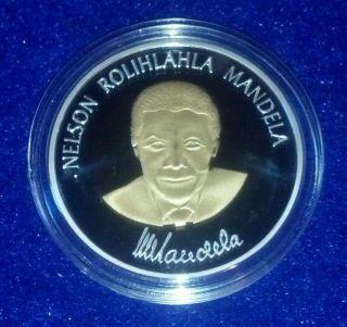 Nelson Mandela A Long Walk to Freedom Robben Island Gold Silver Art Coin
