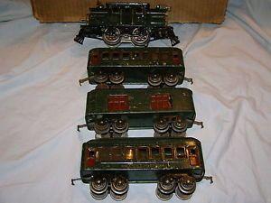 Lionel Prewar 154 Engine Passenger Car Set