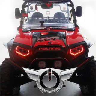 07 13 Polaris RZR ATV Red Plasma Oracle Intense Lighting Halo Kit Off Road