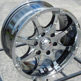 "17"" Black Chrome MKW MK26 Wheels Rims Chevy Silverado Tahoe Suburban Tacoma GMC"