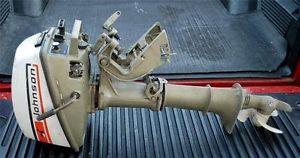 Johnson 4HP Outboard Boat Trolling Motor 4R73 C Sold as Is