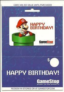 Mario Nintendo Happy Birthday Gamestop Gift Card Collectible No $Value