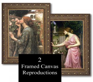 Waterhouse The Soul of Rose Cupid Opening Door Framed Canvas Giclee Repros