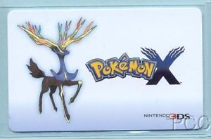 Pokemon x 2013 Gift Card Collectible Card Only