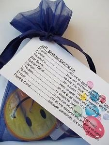 21st Birthday Survival Kit Novelty Gift Card Male