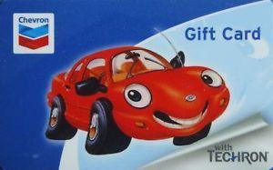 """Chevron Gift Card """"Red Car"""" Collectible No Value"""