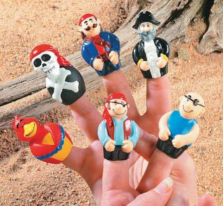 12 Pirate Finger Puppets Party Favors Cupcake Picks Cake Topper