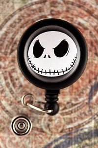Badge Reel Name Tag ID Holder Jack Skellington