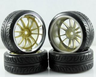 1 10 Drift Tires Tyre Wheel Rim RC Road Car 9003 6014