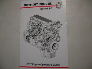 Detroit Diesel Series 60 Engine Operator's Guide Service Shop Manual 6SE607 0701